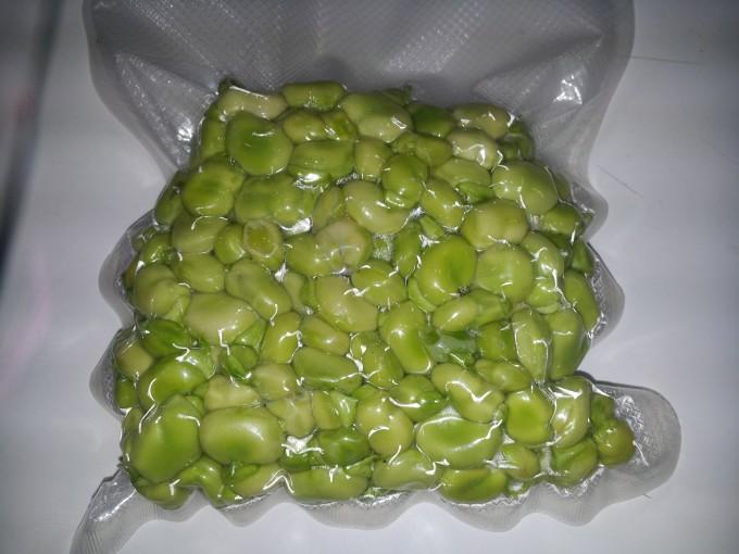 Productos envasados habas verdes