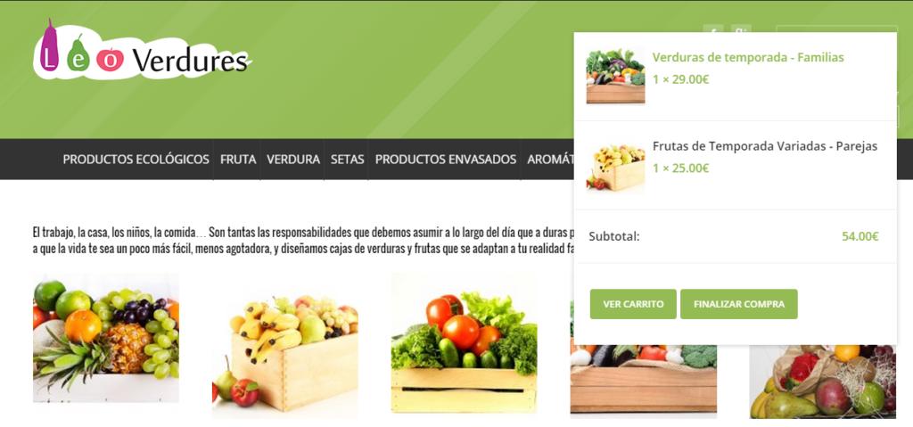 Comprar fruta por internet - Fruteria de Valencia