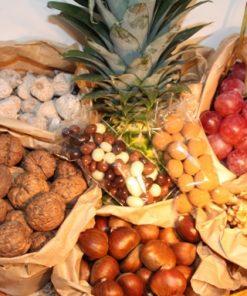 Cestas con frutos de otoño - cestas de fruta - Fruteria de Valencia
