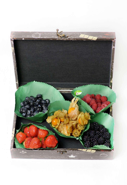 Caja de frutas del bosque