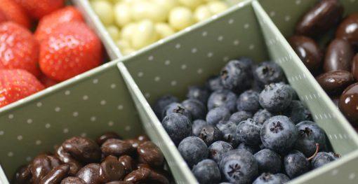 Frutos secos con chocolate
