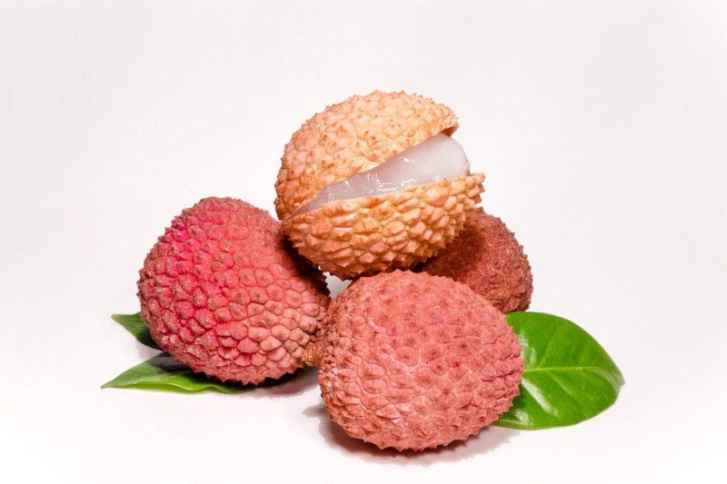 Litchis Fruta Tropical