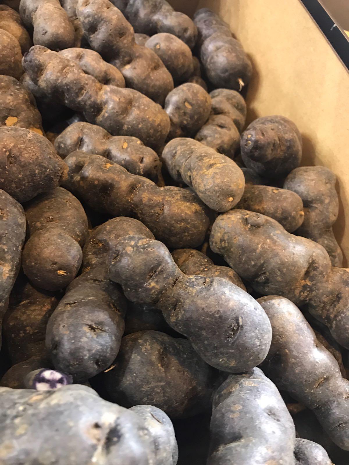 Patata morada o violeta