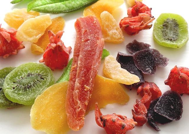 Fruta escarchada - Frutería de Valencia